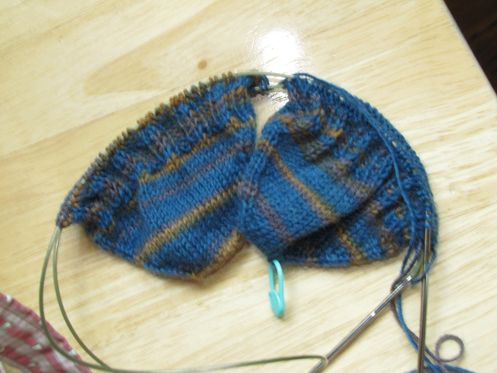 toe-up 2-at-a-time knitting